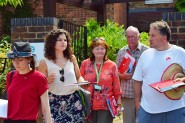 Labour Party members canvassing for a new job centre in Rye (photo: CLT).