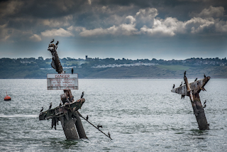 SS Montgomery Masts © Brian Rybolt