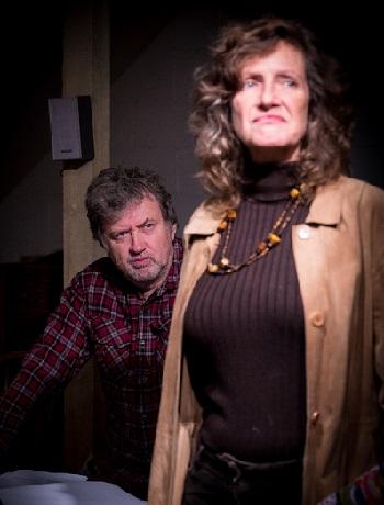 Lisa Harmer-Pope plays Wilma and Robin Hayter is John.