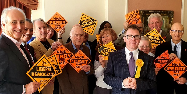 Nick Perry is the Lib Dem candidate.