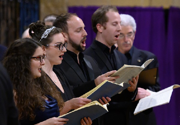 Soloists: from left, soprano Sophie Levi, mezzo-soprano Rachel Falaise, tenor Jonathan Cooke and baritone Leo Selleck.