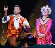 A scene from Aladdin at the White Rock Theatre