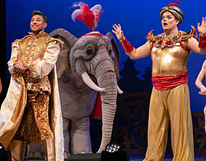 A scene from Aladdin at the White Rock Theatr