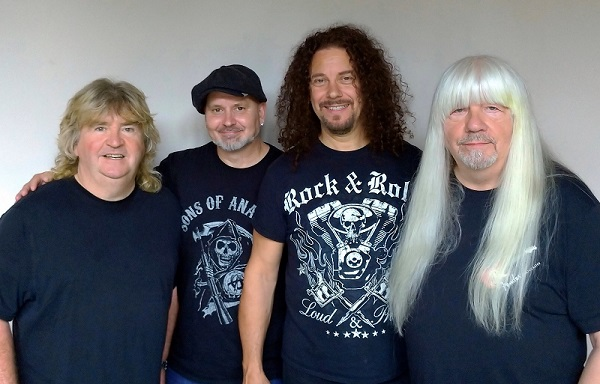 The Sweet's current line-up: from left, Bruce Bisland (drums, vocals), Lee Small (bass, vocals), Paul Manzi (lead vocals) and Andy Scott (lead guitar), vocals).