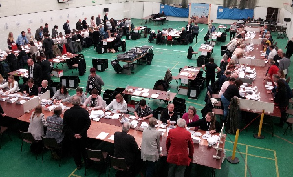 Technical issues resolved, the count gets under way in earnest.