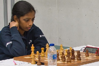 WGM Rameshbabu Vaishali from India, the top-ranked woman.
