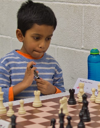 Seven-year-old Patrick Damodaran, the youngest participant.