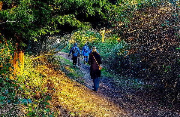 Walking the walk: a stroll along part of the proposed greenway network in Hastings (photo: Tony Polain).