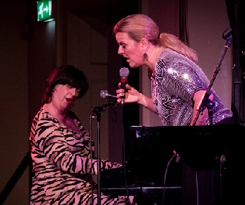 Claire duetting with local jazz star Liane Carroll.