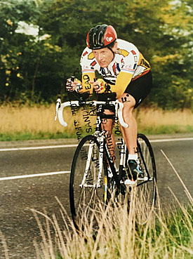 Racing with Eastbourne Rovets CC 1990