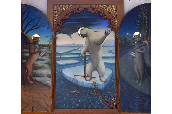 Triptych – 'The Weighing of the Souls' – by Michael Madden