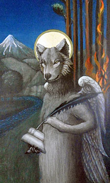 Wolf - detail from the triptych