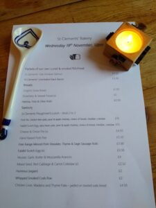 St Clements Takeaway menu