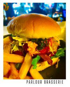 vegan Beet and sweet potato burger